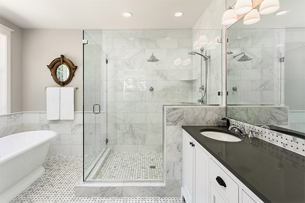 White bathroom tile professionally cleaned in Navarre, FL
